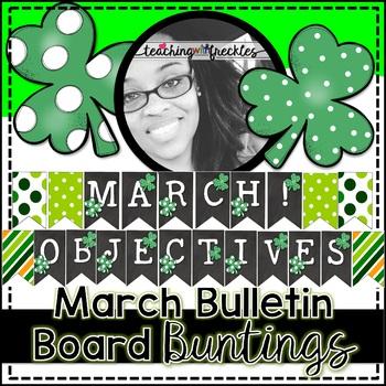 March Bulletin Board Bunting