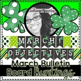 March Bulletin Board Bunting
