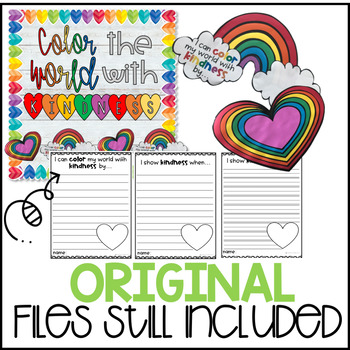 Color the world with kindness! Bulletin Board Kit