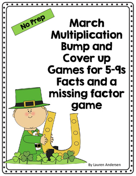 March Bump and Cover Up Games for Multiplication