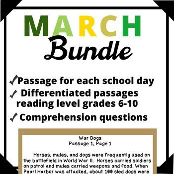 March Bundle-Day in History Differentiated Reading Passage Ongoing Assessment