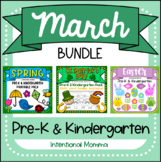 March Bundle for Pre-K -- Spring, St. Patrick's Day, and Easter