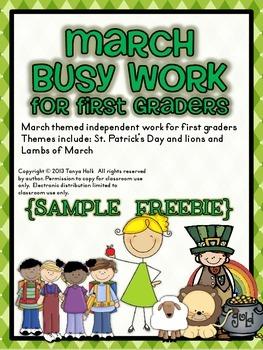March Busy Work {FREEBIE}