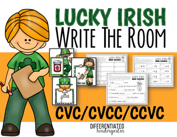 March CVC-CVCC-CCVC Write the Room Fun-Differentiated