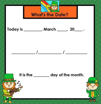 SMARTBOARD March Calendar
