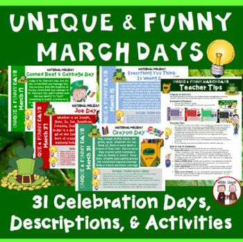 March Calendar Activities