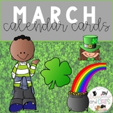 All year long calendar cards - March
