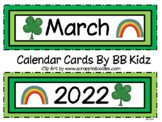 March Calendar Cards / Numbers / Patterns of Clovers and Rainbows
