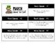 March Calendar Center Task Cards