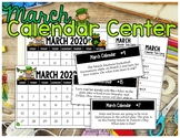March Calendar Center Task Cards
