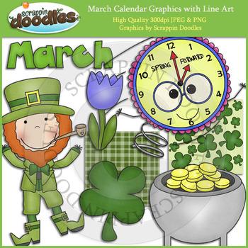 March Calendar Graphics