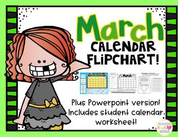March Calendar Flipchart
