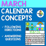 March Calendar Concepts: Following Directions & Answering