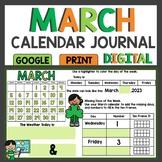 March Math Meeting Calendar Activities