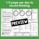March Calendar Math Student Journal