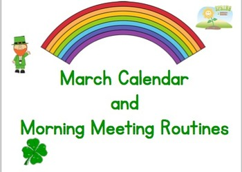 March Calendar & Morning Routines for Smartboard