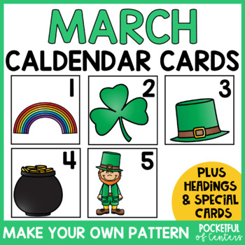 March Calendar Numbers