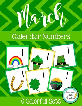March Calendar Numbers (6 sets)