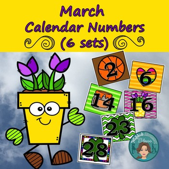 March Calendar Numbers (6 sets) 1-31