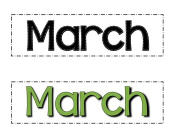 March Calendar Numbers- Melonheadz Style
