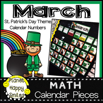 March Calendar Numbers or Math Station Number Cards