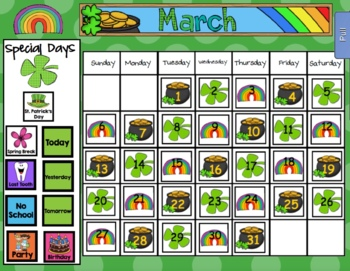 2018 March Math and Calendar Pack - For SMARTboard