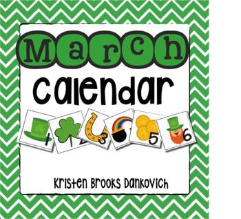 March Calendar Card Pieces