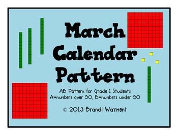 March Calendar Pattern