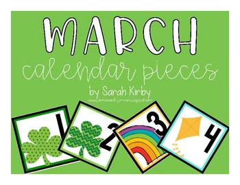 March Calendar Pieces
