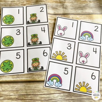 March {St. Patrick's Day} Calendar Cards