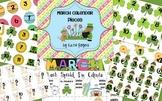 March Calendar Pieces (6 Different Sets)
