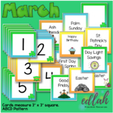 March Calendar Pieces - St. Patrick's Day Themed - ABCD Pattern