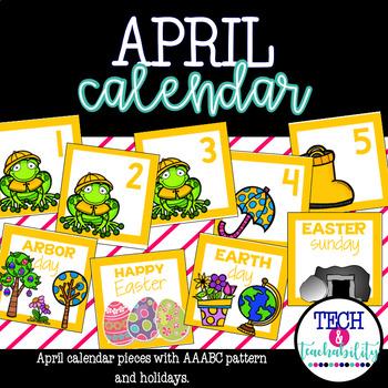 April Calendar Pieces - White Set