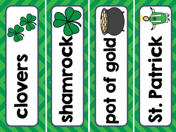 March Calendar Pieces & Word Wall-- Spring, Easter, St. Patrick's Day