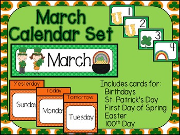 March Calendar Set-Polka Dots