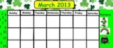 March Calendar White board