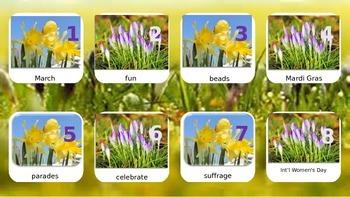 March Calendar Words