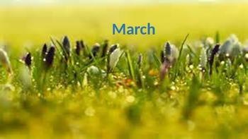 March Calendar & Daily Vocabulary