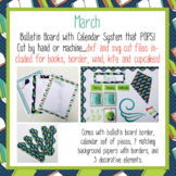 March Calendar and Bulletin Board set that pops with print