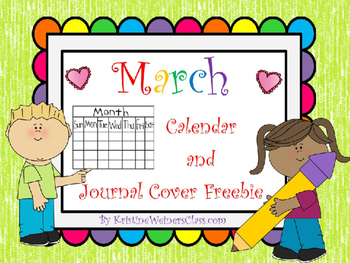 March Calendar and Journal Freebie