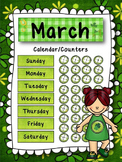 March Calendar and/or Counters