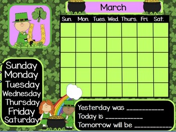 March Calendar for ActivInspire