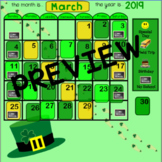 March Calendar for Smartboard