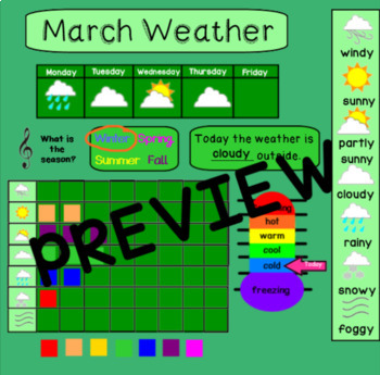 March Calendar for Smartboard
