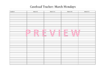 March Caseload Tracker