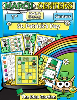 March Center Activities - Math and Literacy (First)