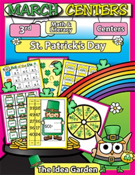 March Center Activities - Math and Literacy (Third)