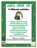March Center Activity Set: 9 Different Activities