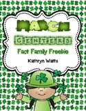 March Centers Fact Family Freebie