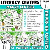March Centers--First Grade ELA